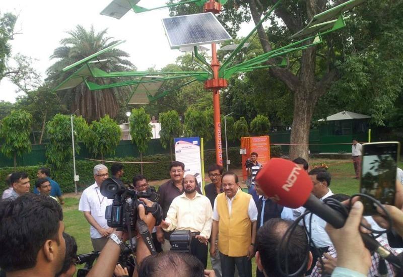 A solar tree in Delhi
